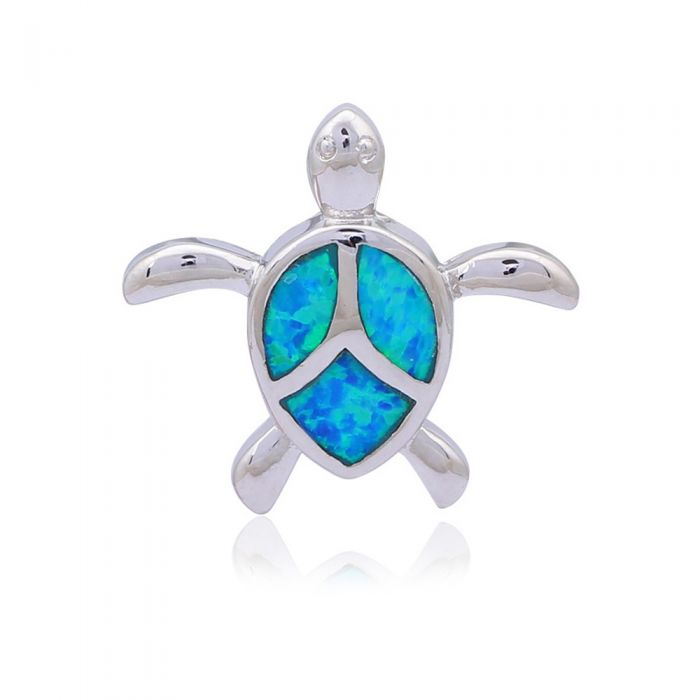 Image for Opal Turtle Woman Pendant and Silver Plated