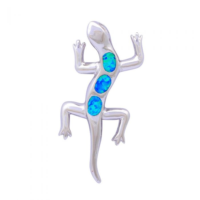 Image for Opal Lizard Pendant and Silver Plated