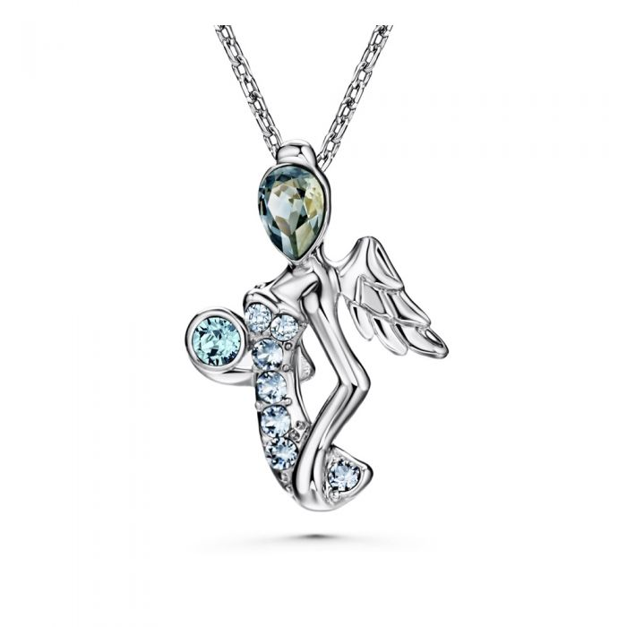 Image for Swarovski - Blue Swarovski Elements Crystal Virgin Pendant