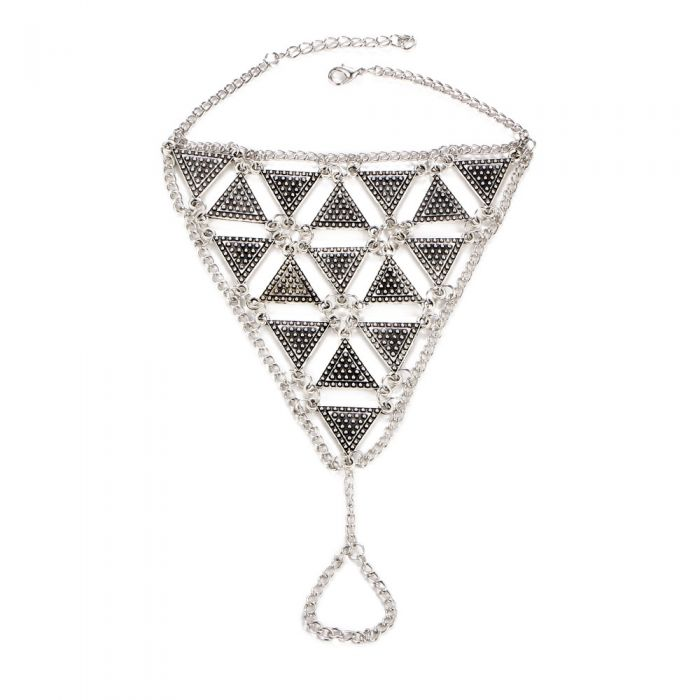 Image for Bohemian Triangle Foot Jewel in Stainless Steel