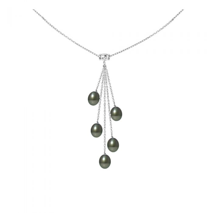 Image for 5 Tahitian Pearls and 925 Sterling Silver Woman Necklace