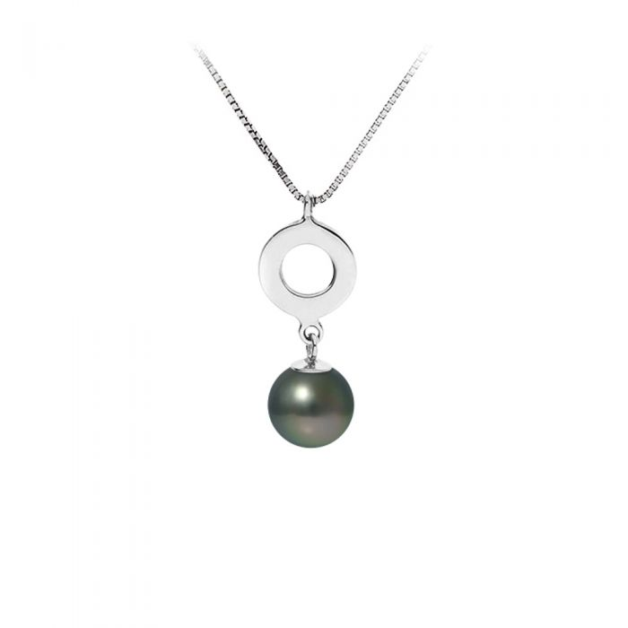 Image for Black Tahitian Pearl Pendant Necklace and Sterling Silver 925