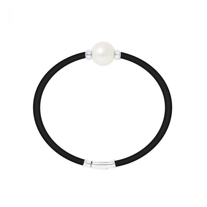 Image for White Freshwater Pearl Neoprene and 925 Sterling Silver Bracelet