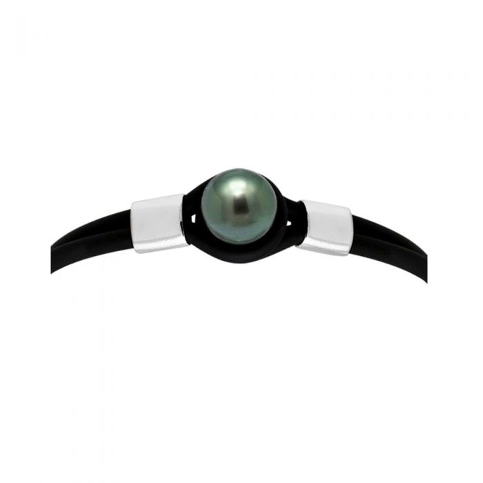 Image for 10 mm black tahitian pearl bracelet