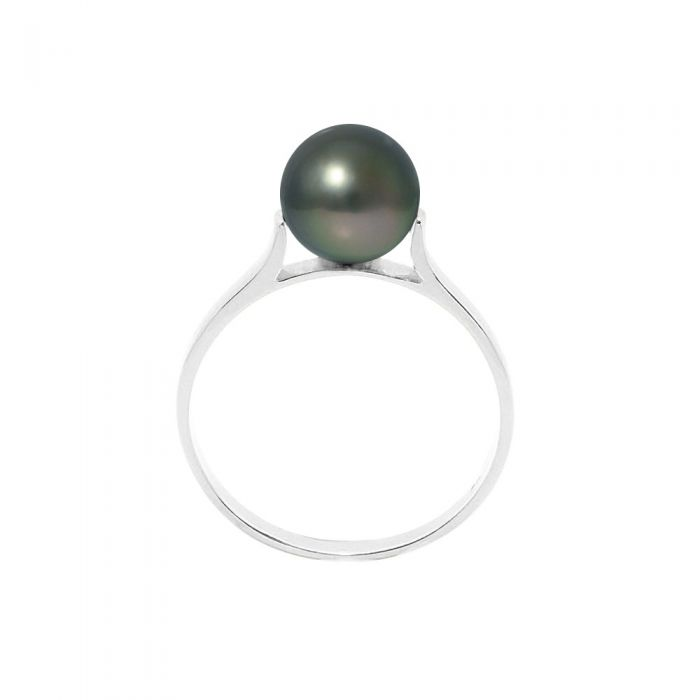 Image for Black Tahitian Pearl Ring and 925/1000 Silver