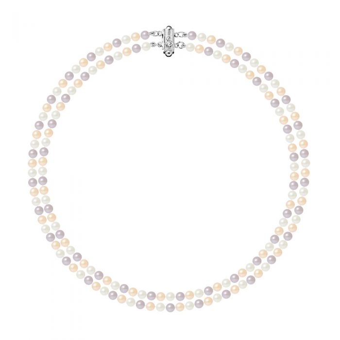 Image for 2 Rows of Multicolor Freshwater Cultured Pearls Necklace