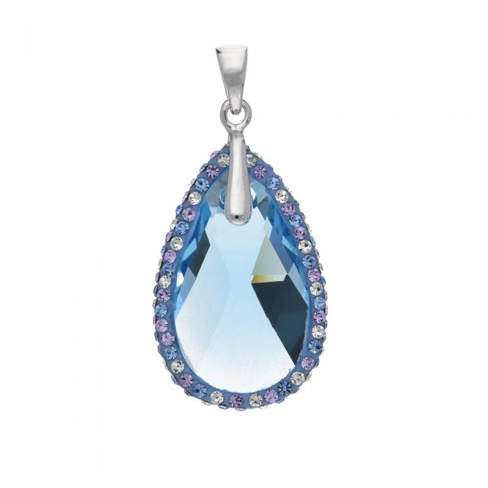 Image for Swarovski - Blue Swarovski Elements Crystal Pendant and 925/1000 Silver Mounting