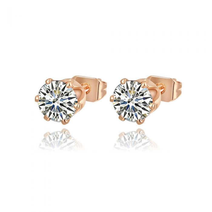 Image for Earrings Women Pink Gold Rhodium Plated and Cubic Zirconia