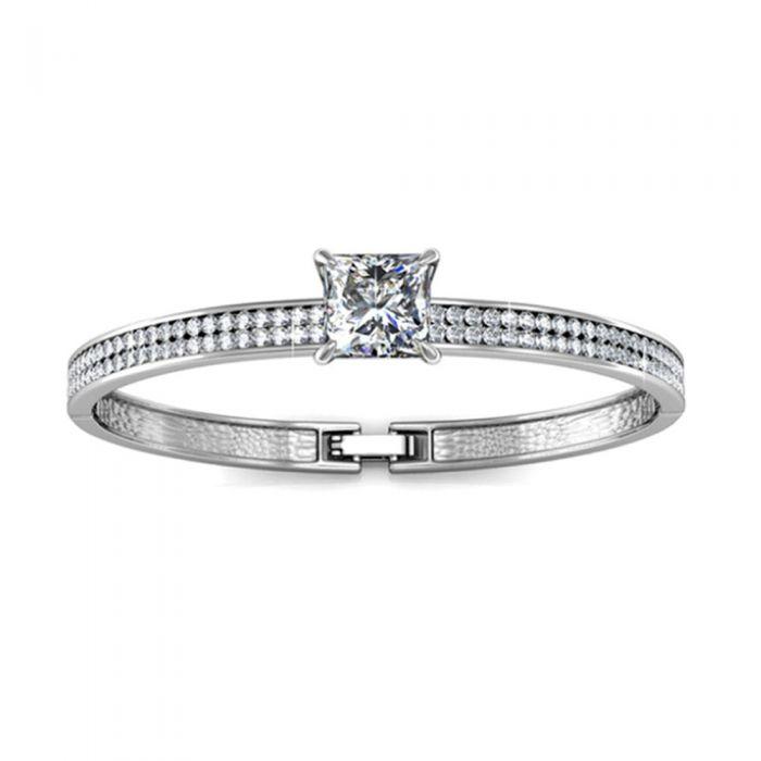 Image for Swarovski - Bangle Bracelet made with a White Crystal from Swarovski