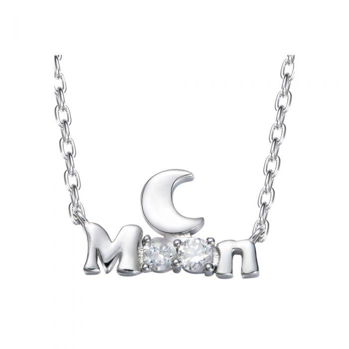 Image for Swarovski - Women Necklace Moon White Swarovski Crystal Elements