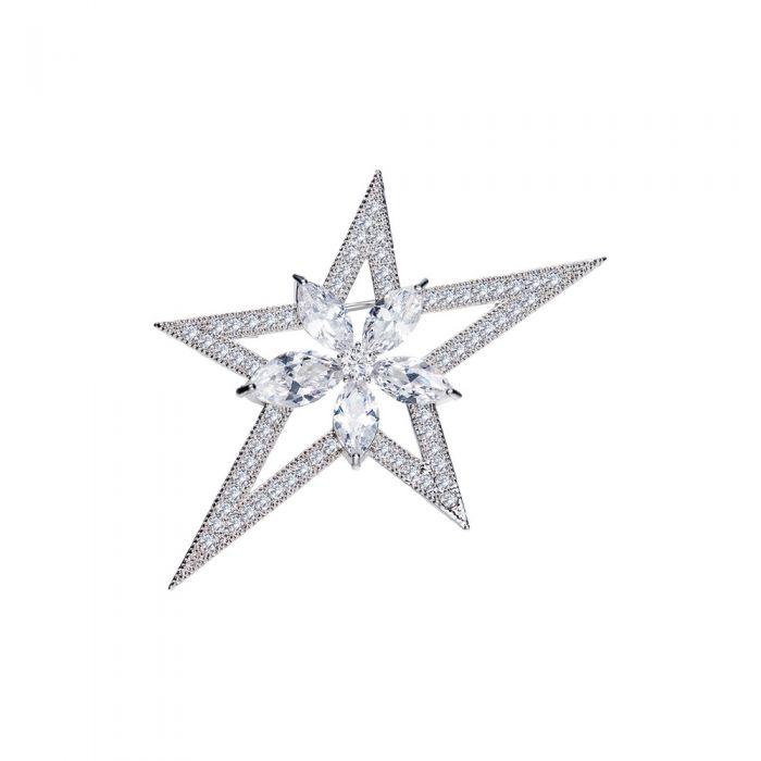 Image for Swarovski - Woman Brooch Star White Crystal Swarovski