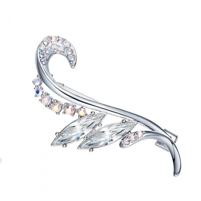 Image for Swarovski - Woman Brooch White Crystal Swarovski