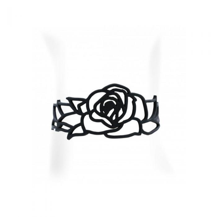 Image for Black Silicone Gum Rose Bracelet Effect Tatto