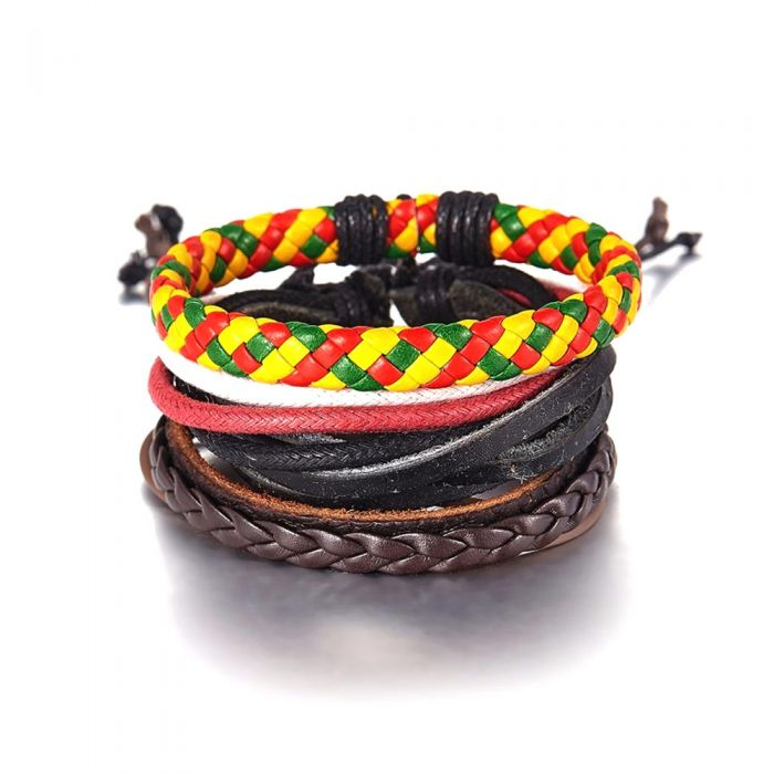 Image for Multicolour leather bracelet