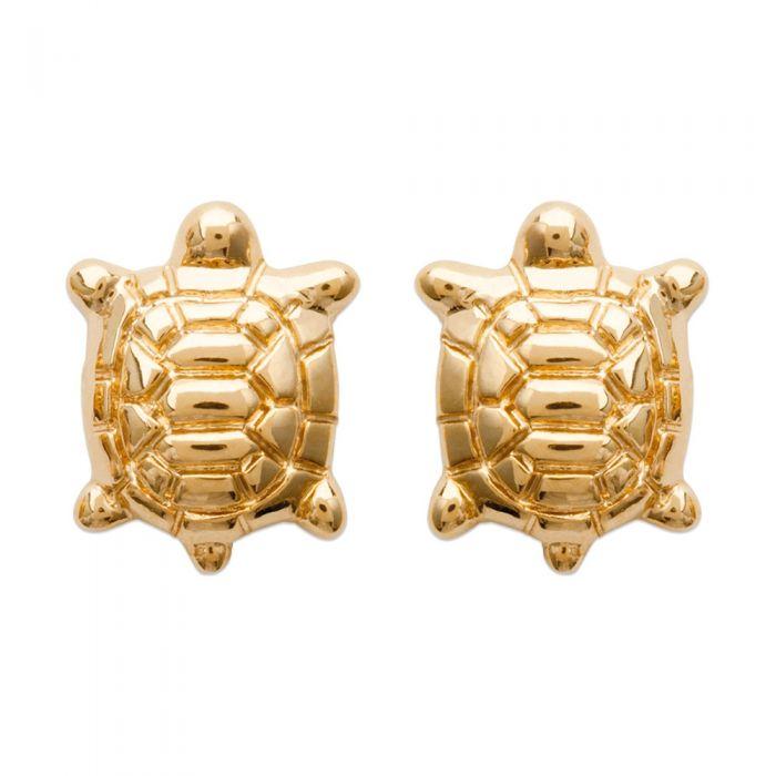 Image for Yellow Gold Plated Turtle Women Fancy Earrings