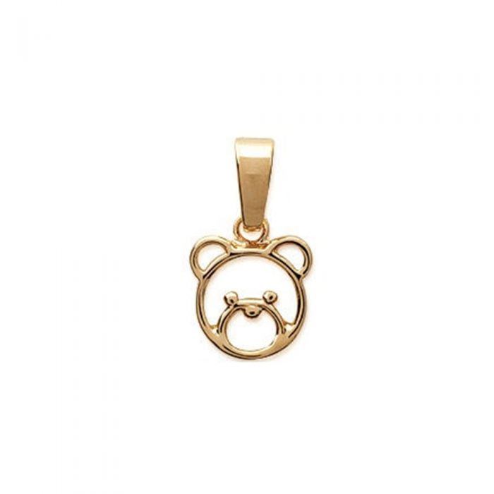 Image for Yellow Gold Plated Women Bear Pendant