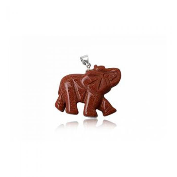 Image for Elephant Pendant in Gold Sandstone and 925 Silver