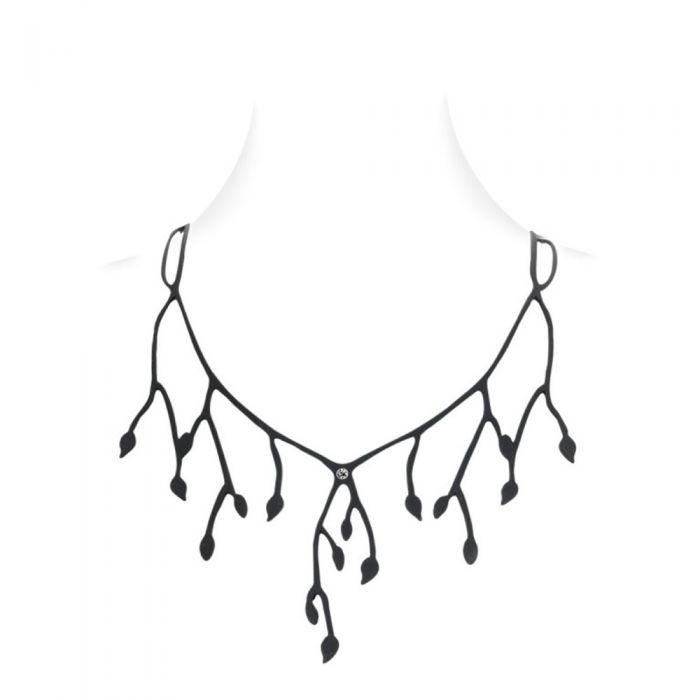 Image for Black Silicone Gum Primavera Necklace Effect Tatto