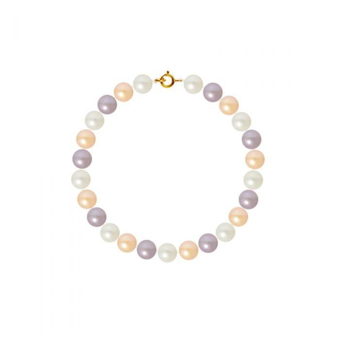 Image for AA Multicolor Freshwater Pearl Women Bracelet and 750/1000 Yellow Gold Clasp