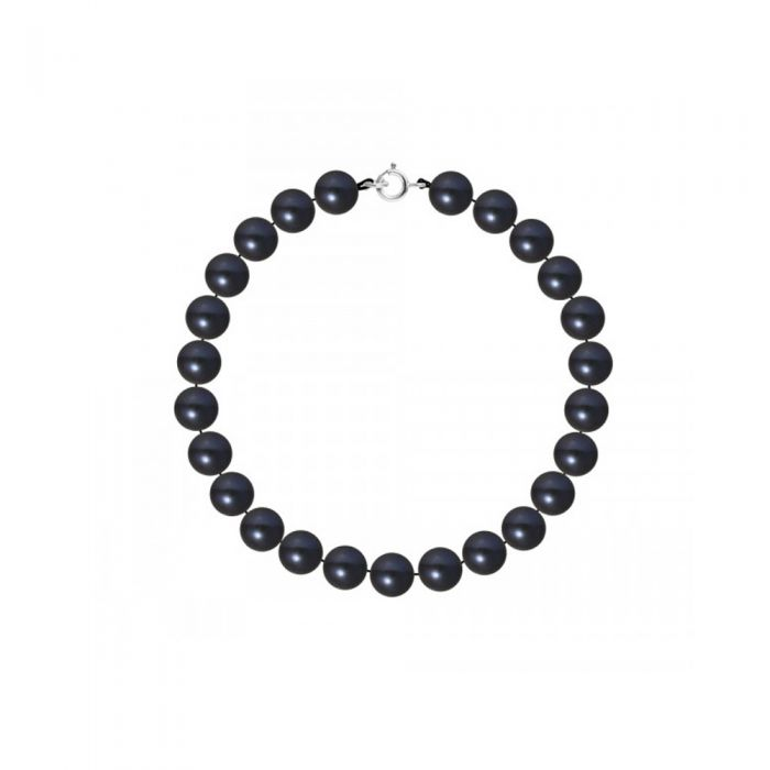 Image for AA Black Freshwater Pearl Women Bracelet and 750/1000 White Gold Clasp