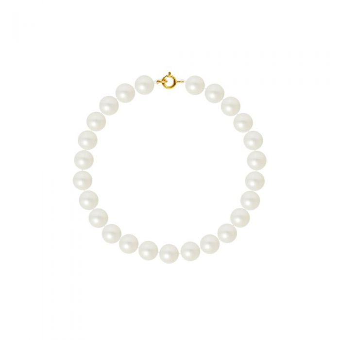 Image for AA White Freshwater Pearl Women Bracelet and 750/1000 Yellow Gold Clasp