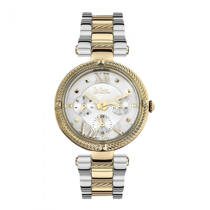 Image for Lee Cooper Women Watch and Bracelet in Silver Metal and Yellow Gold