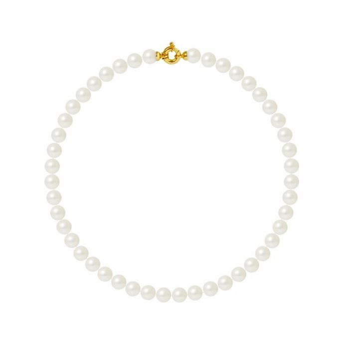 Image for 10mm and AA White Freshwater Pearl Women Necklace and 750/1000 Yellow Gold Clasp