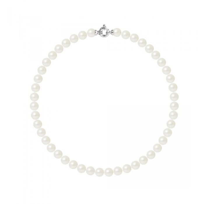 Image for 10mm and AA White Freshwater Pearl Women Necklace and 750/1000 white Gold Clasp