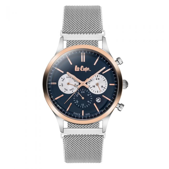 Image for Lee Cooper Men's Watch and Silver Milanese Mesh Bracelet