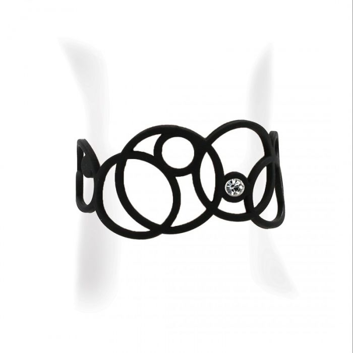 Image for Black Silicone Gum Disco Bracelet Effect Tatto