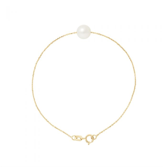 Image for AA White Freshwater Pearl Bracelet and 750/1000 Yellow Gold