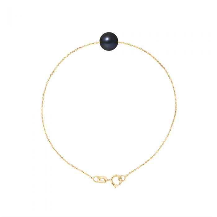 Image for AA Black Freshwater Pearl Bracelet and 750/1000 Yellow Gold