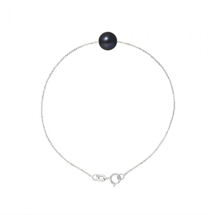 Image for AA Black Freshwater Pearl Bracelet and 750/1000 White Gold