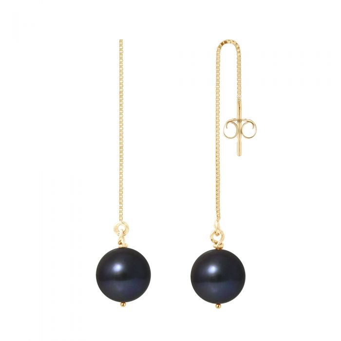 Image for Black Freshwater Pearls Dangling Earrings and yellow gold 750/1000