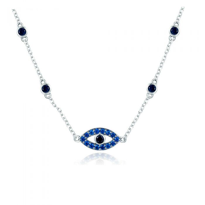 Image for Blue Swarovski crystals eye necklace