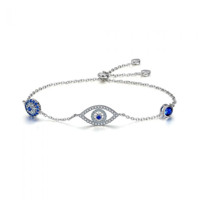 Image for Blue Swarovski crystals eye bracelet