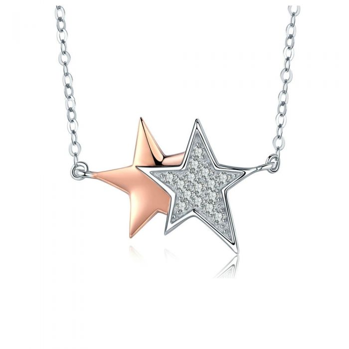 Image for White Swarovski crystals star necklace