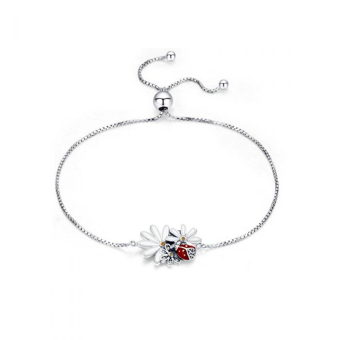 Image for Ladybug and flowers bracelet