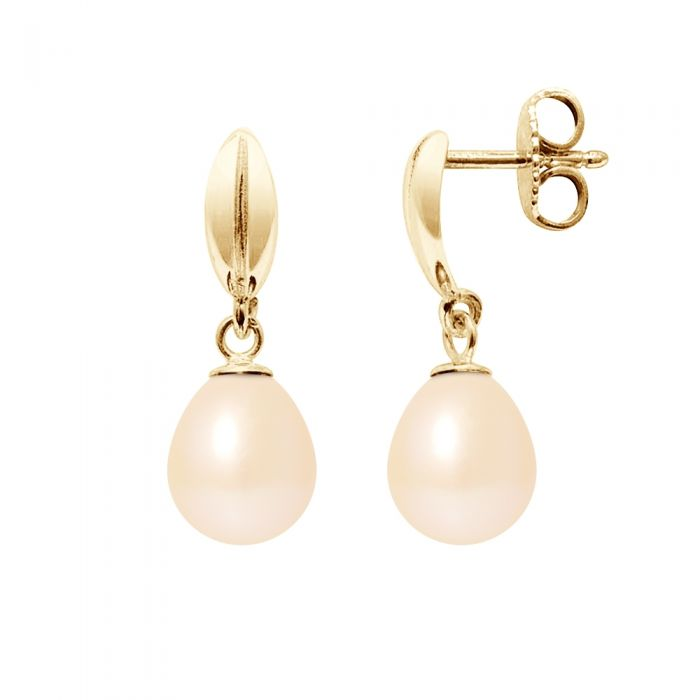 Image for Pink freshwater pearl earrings