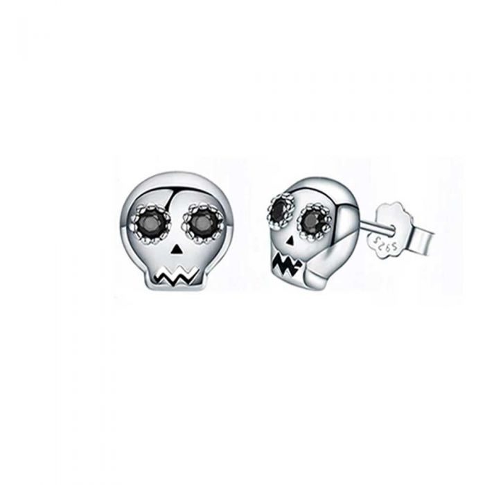 Image for Skull Womens earrings made with 925 silver