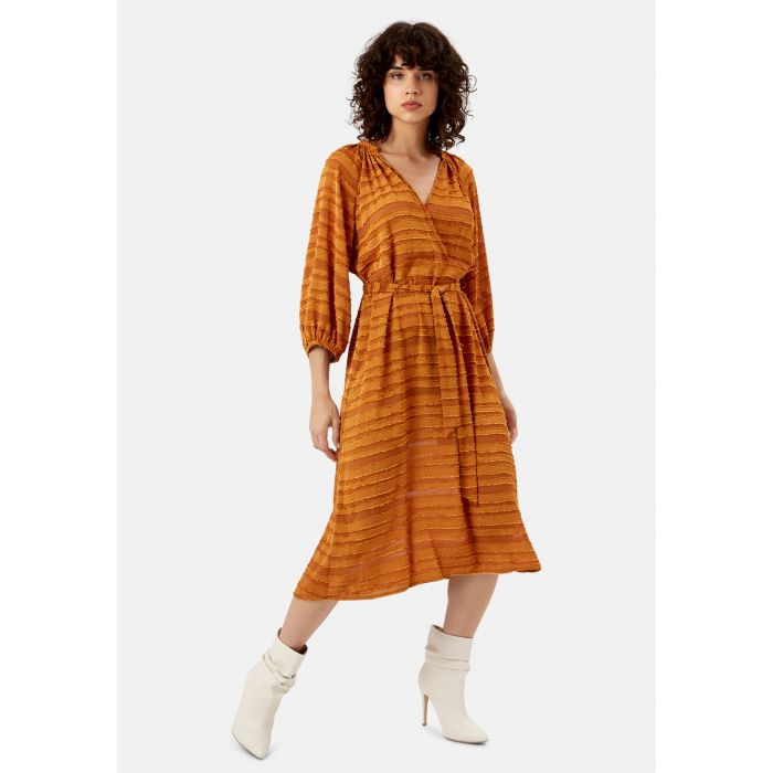 Image for Belt Up Midi Dress in Brown