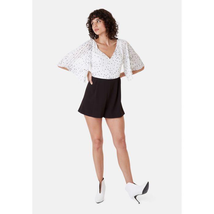 Image for Polka Dot Dory Playsuit in White