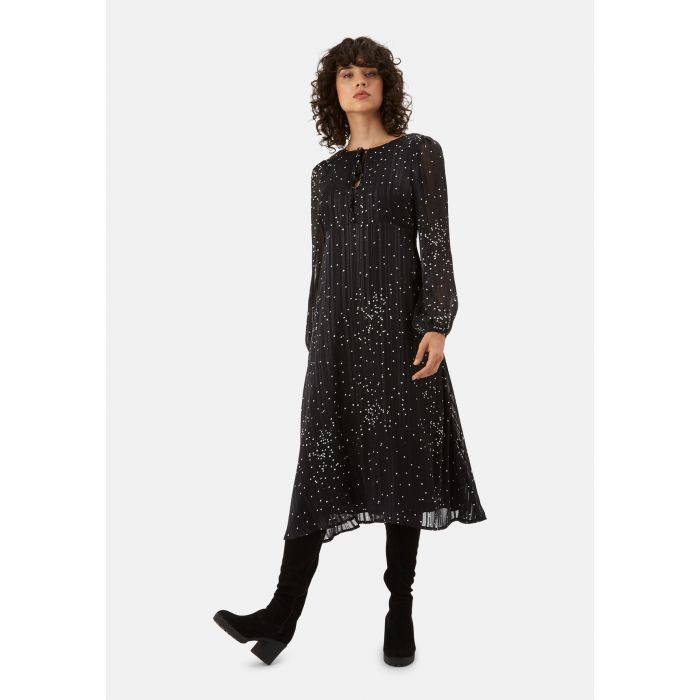 Image for Sneak Mreview black midi dress