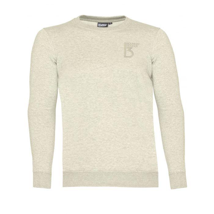 Image for Grey crew neck jersey fleece top
