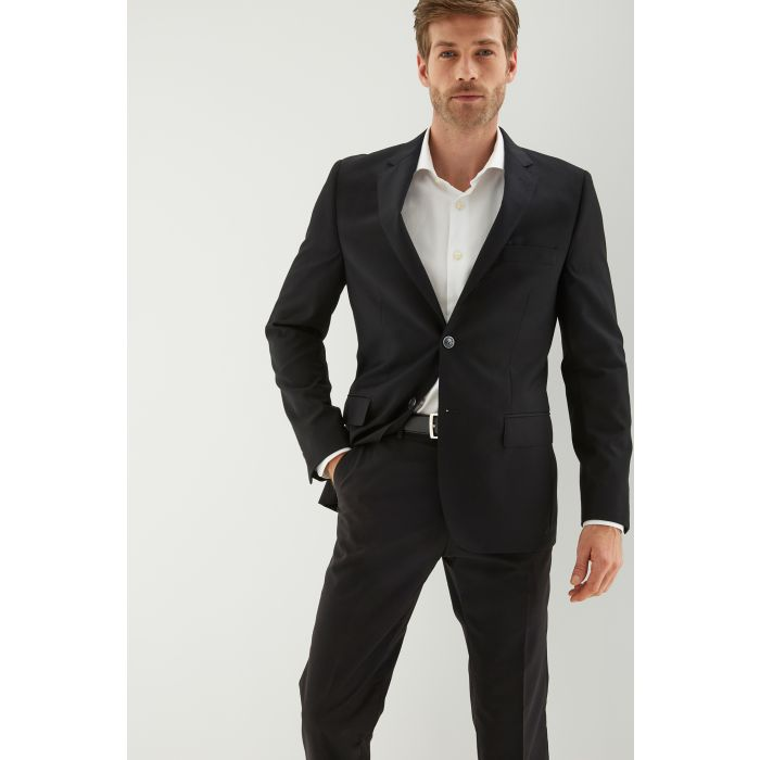 Image for Mens black pure wool slim fit suit