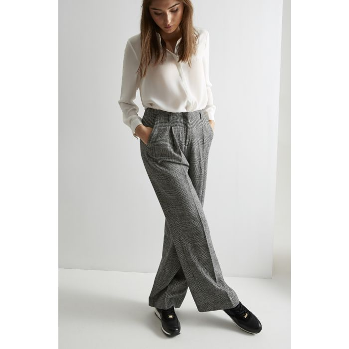 Image for Womens black wide leg trousers