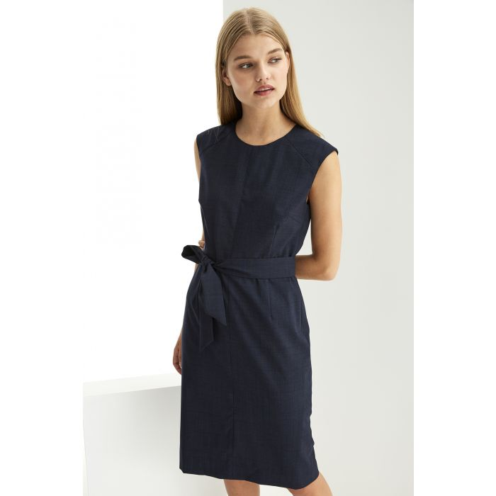 Image for Womens blue checked dress