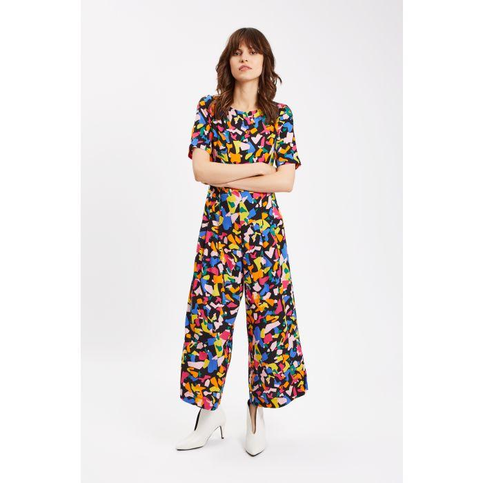 Image for Bianca Confetti Print Short Sleeve Jumpsuit