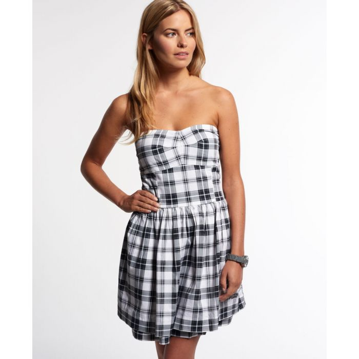 Image for Superdry 50s Prom Plaid Dress