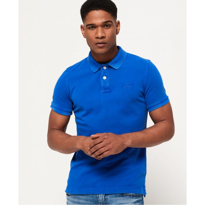 Image for Superdry Vintage Destroyed Pique Polo Shirt